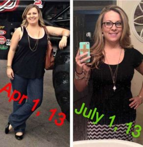 Jenna before and after weight loss
