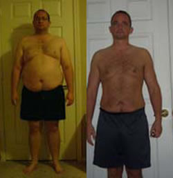men's weight loss Before and After